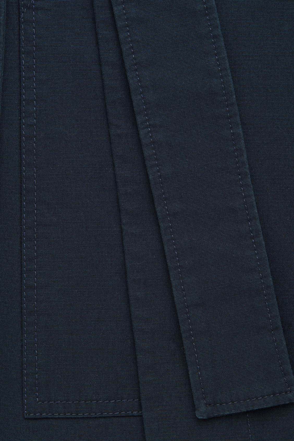 Side image of Cos belted wrap skirt in blue