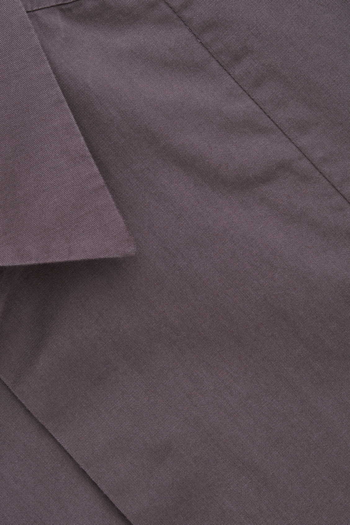 Side image of Cos cotton shirt with seam detailing in purple