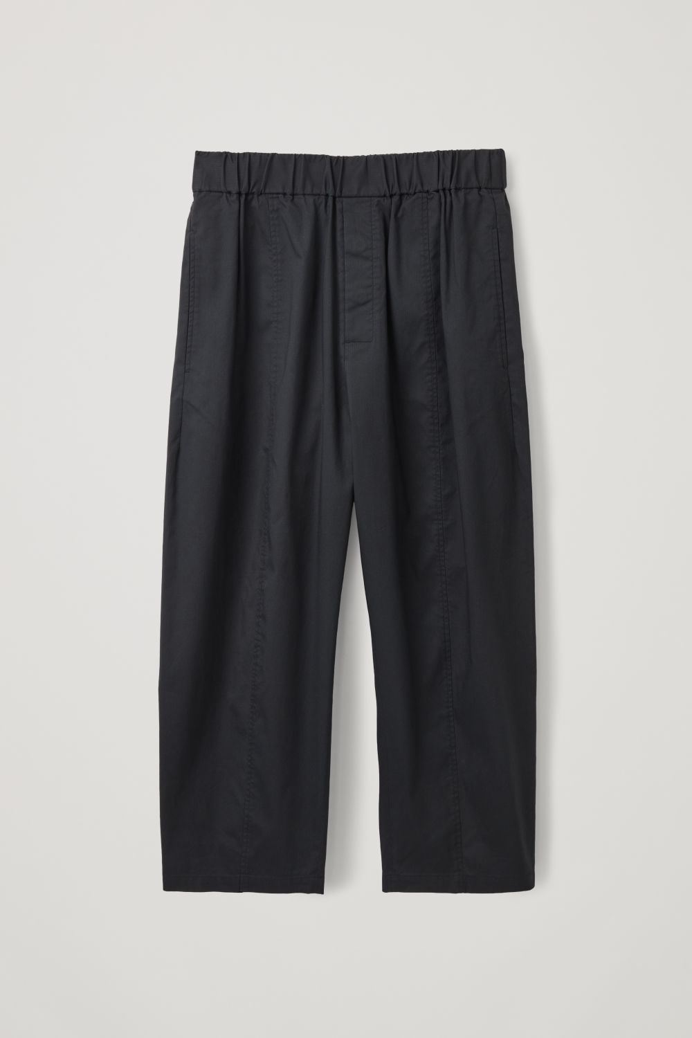 ELASTICATED ORGANIC-COTTON TROUSERS