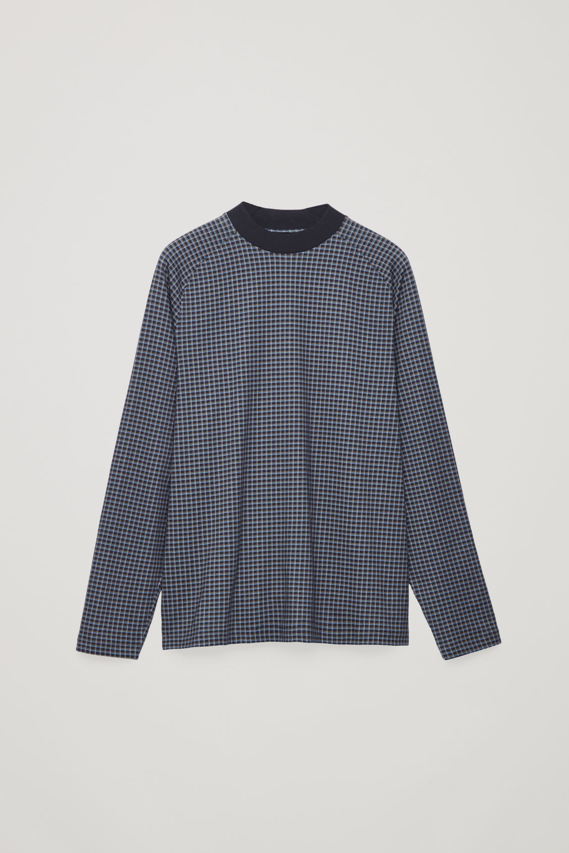 Front image of Cos relaxed check sweatshirt in blue