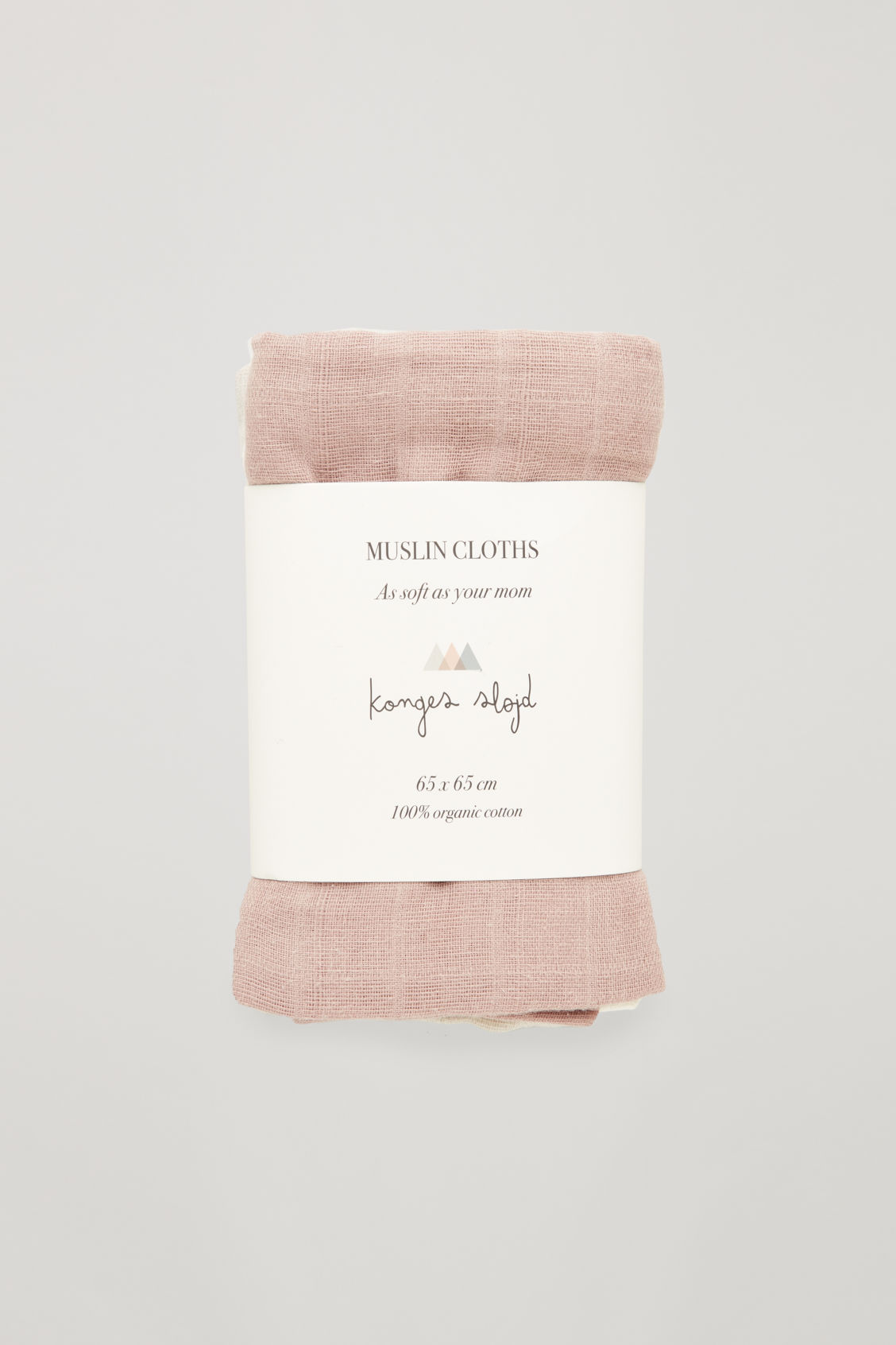 Front image of Cos konges sloyd muslin cloths in pink