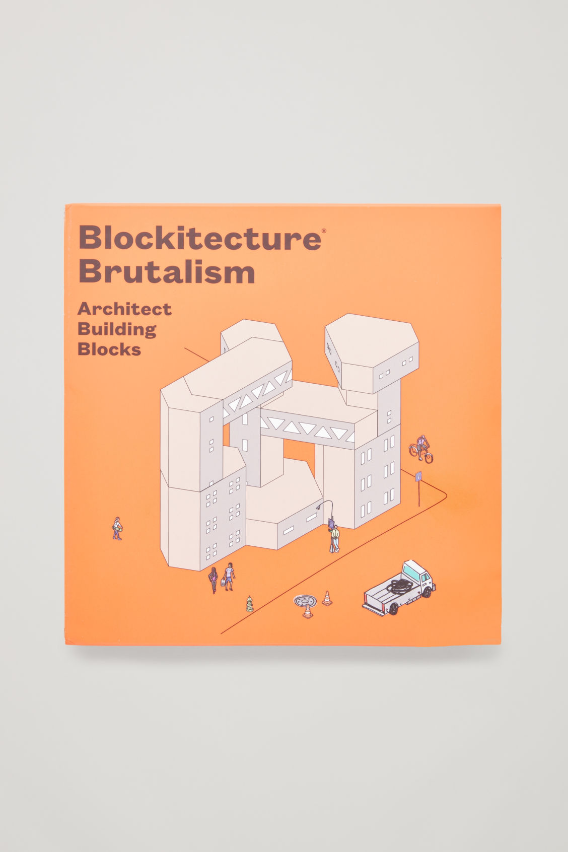 Front image of Cos blockitecture brutalism in white