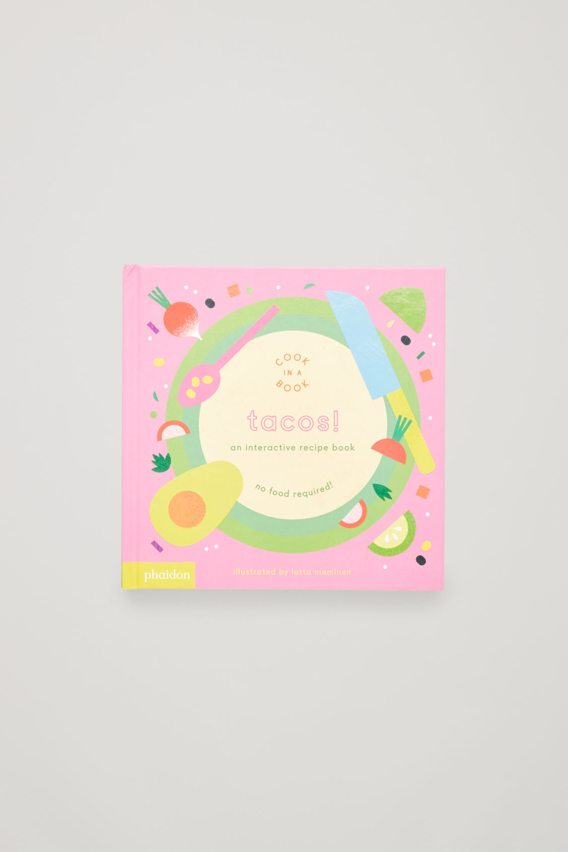 Front image of Cos interactive tacos cookbook  in white