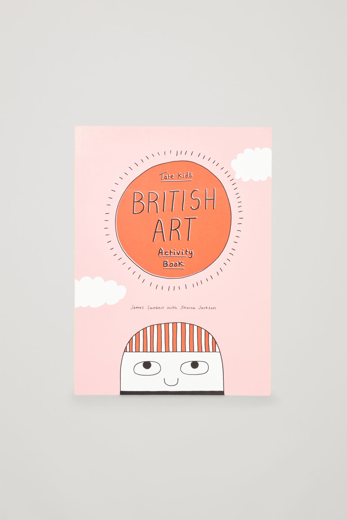 Front image of Cos british art activity book in white