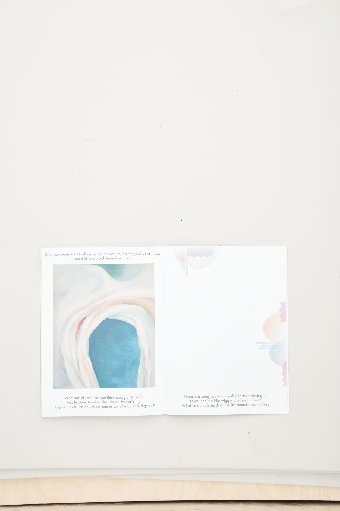 Side image of Cos meet the artist book in white