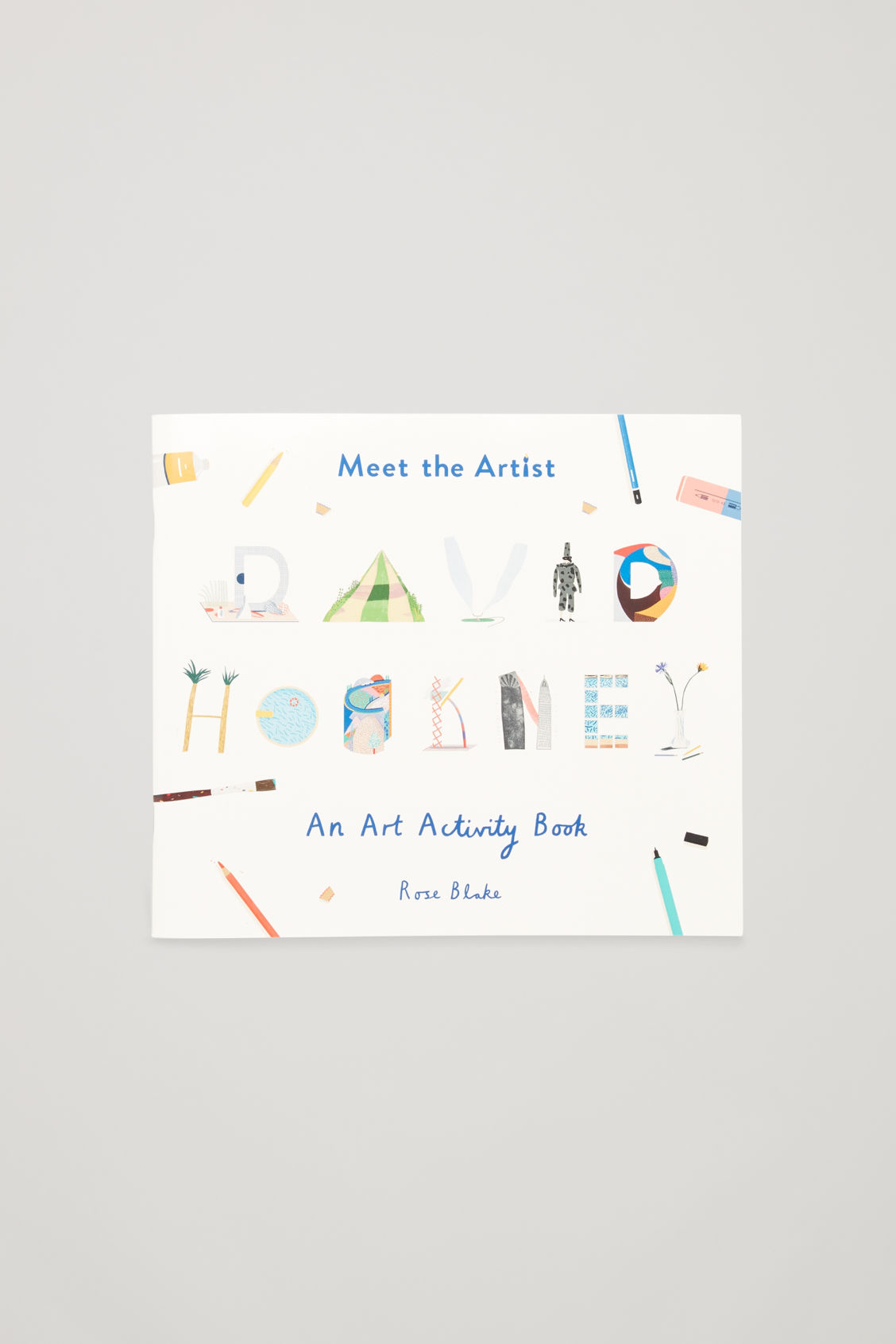 Front image of Cos meet the artist book in white