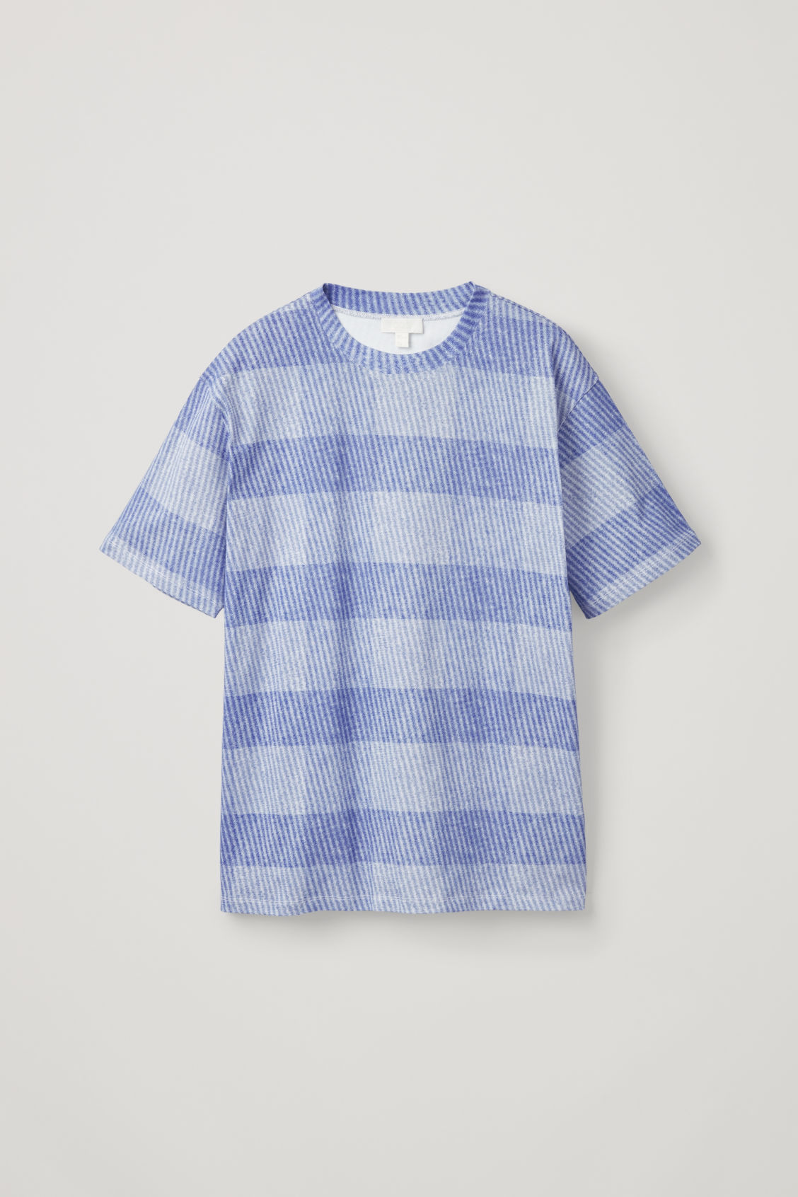 Front image of Cos light-print jersey t-shirt in blue