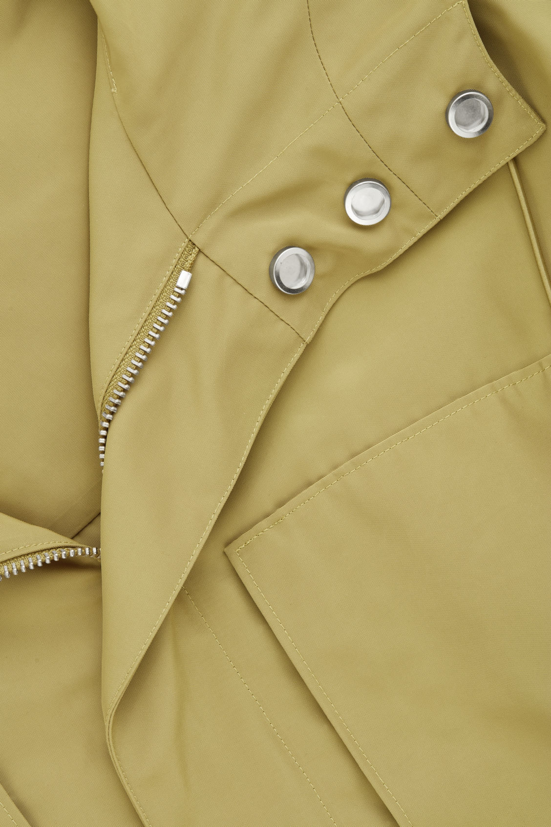 Side image of Cos hooded nylon parka  in yellow