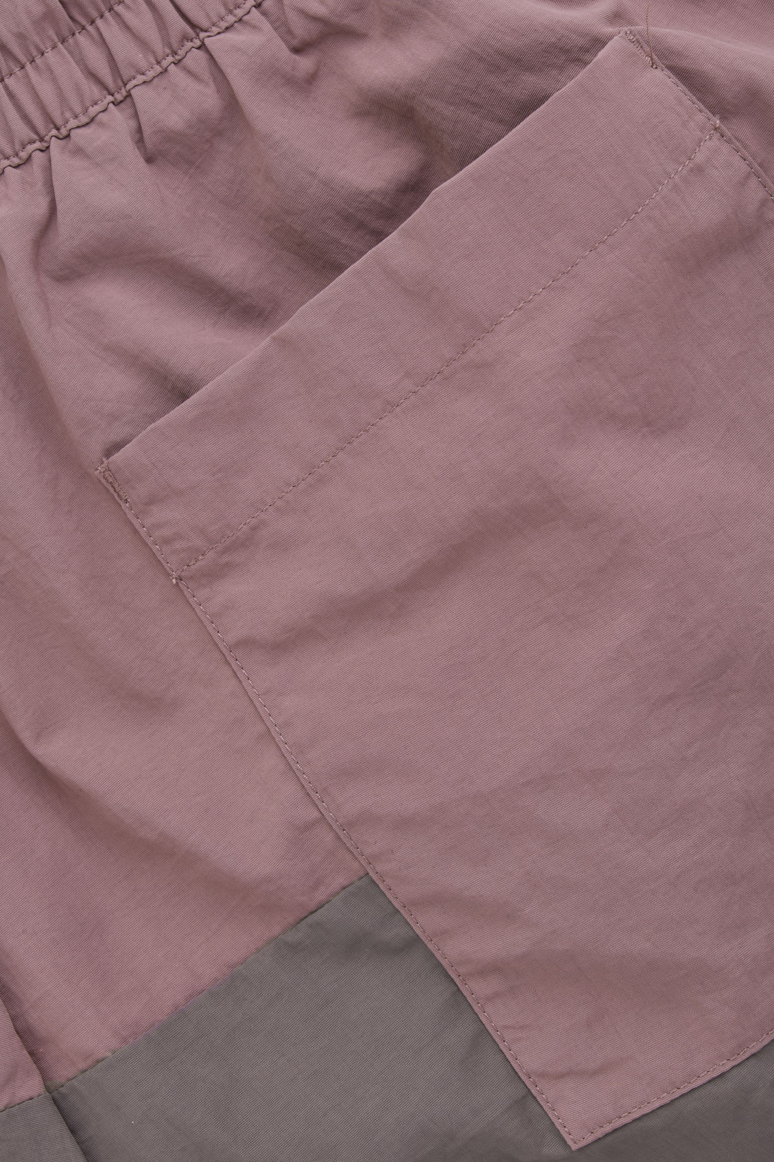 Side image of Cos colour-block swim shorts in purple