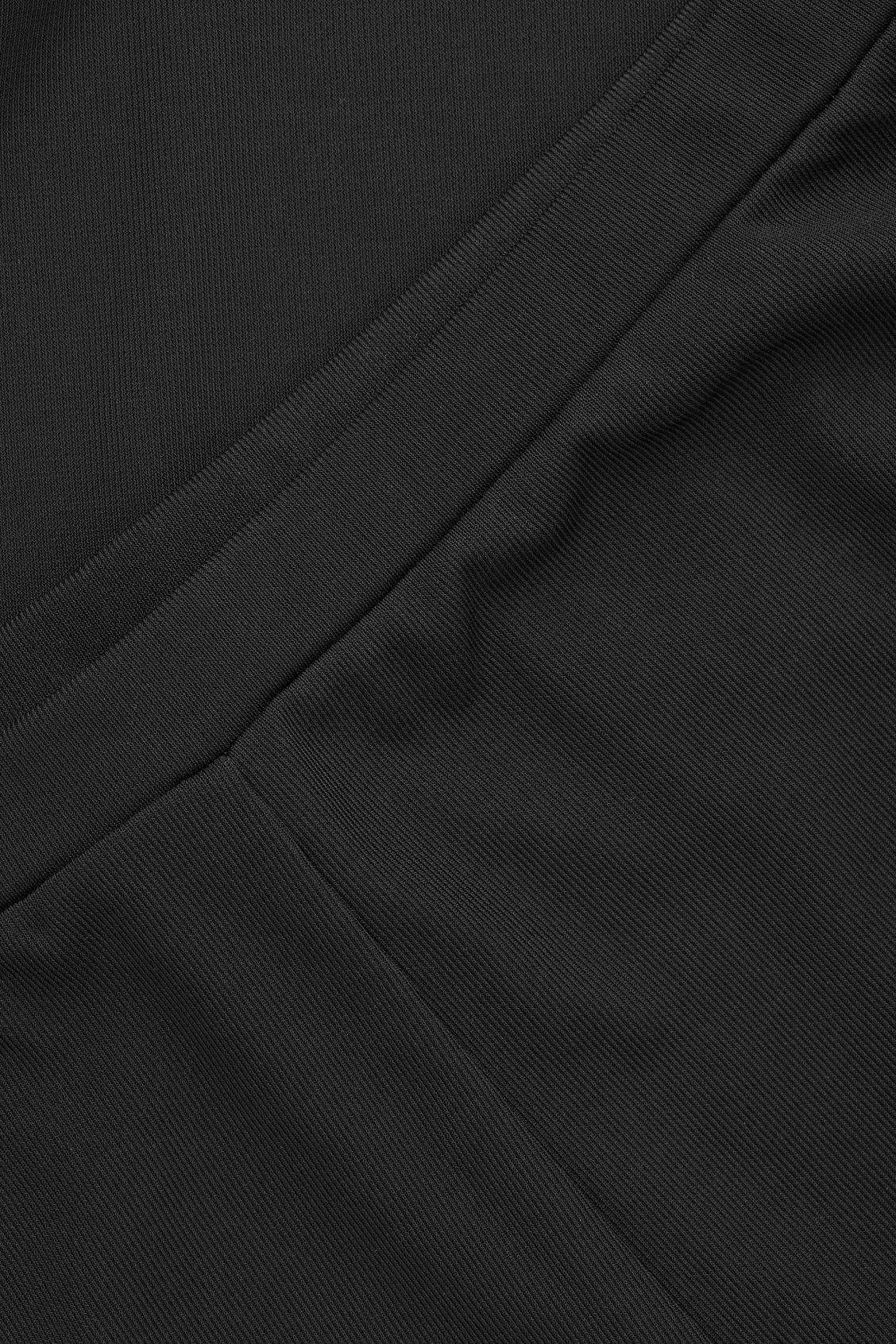 Side image of Cos relaxed elastic-waist trousers in black