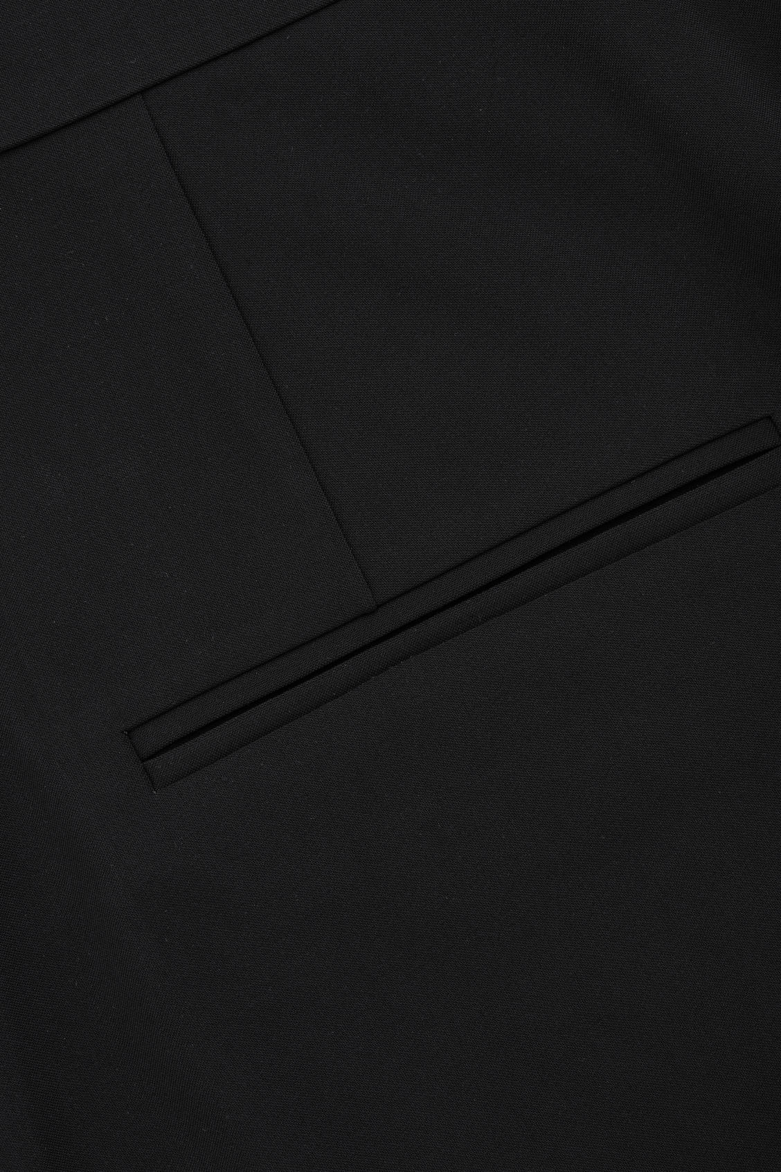 Side image of Cos relaxed pleated trousers in black