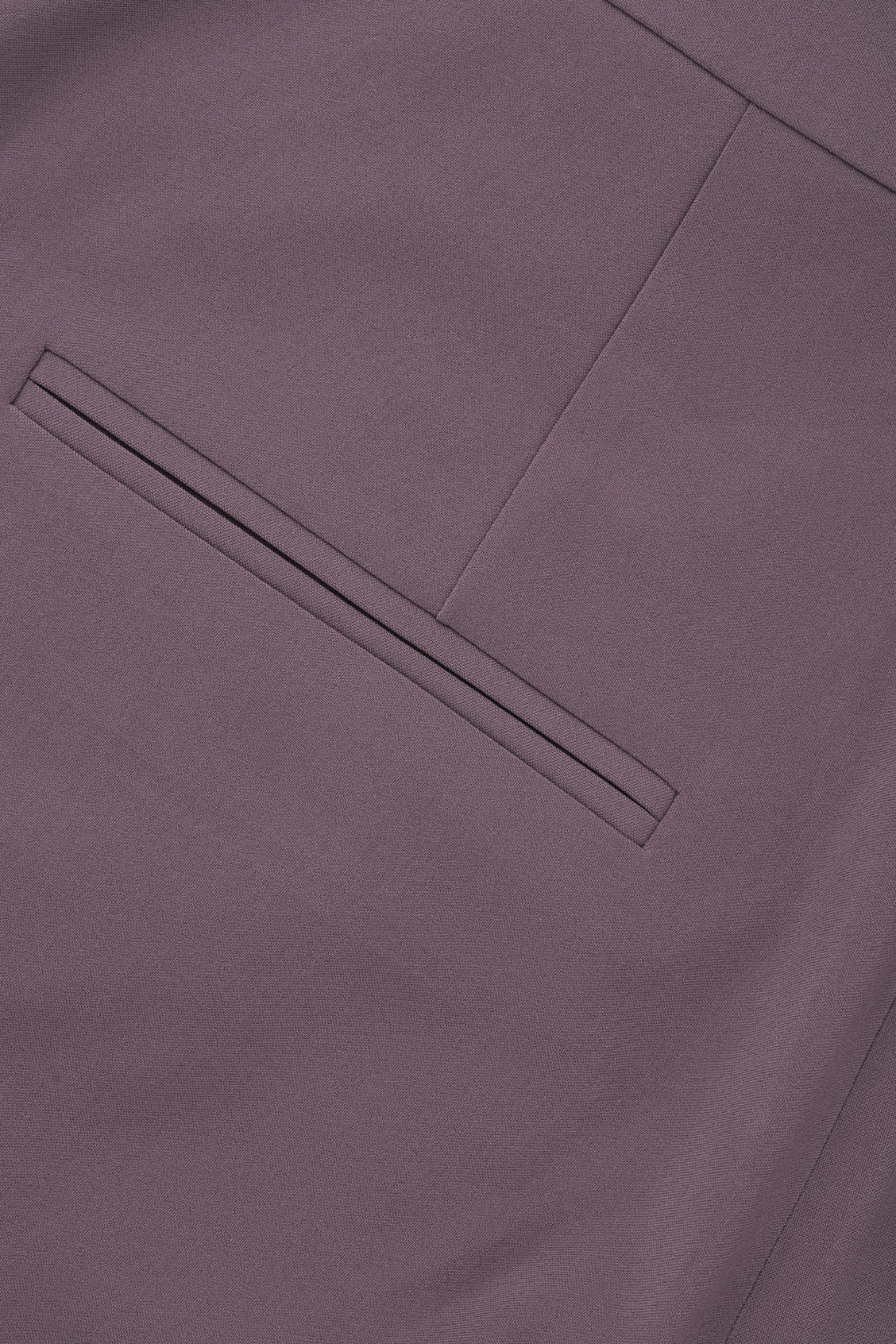 Side image of Cos relaxed pleated trousers in purple