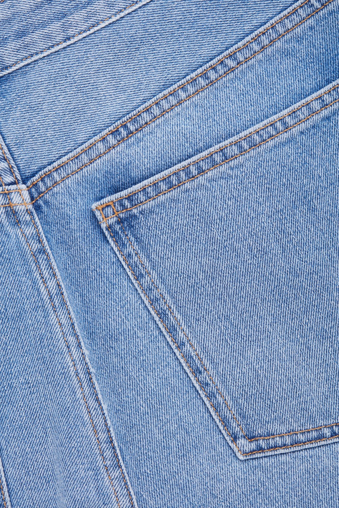 Side image of Cos tapered leg jeans in blue