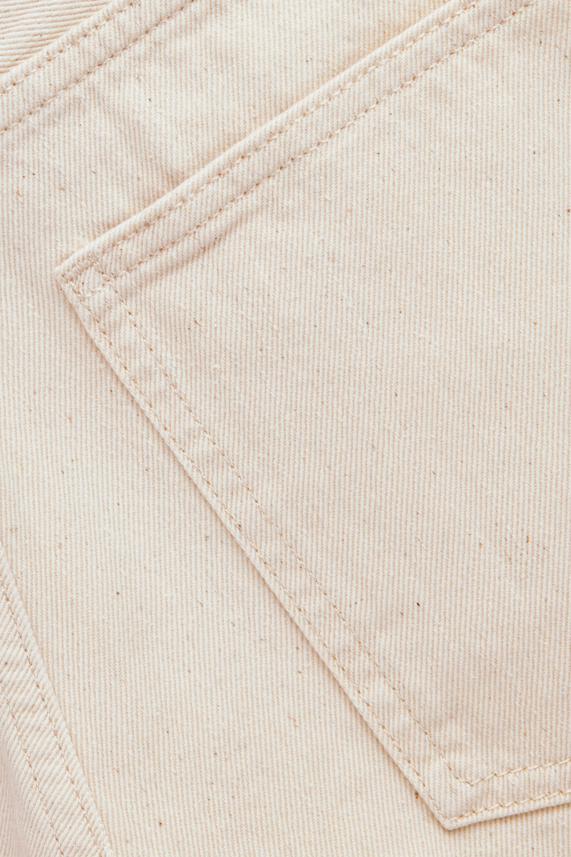 Side image of Cos tapered leg jeans in white