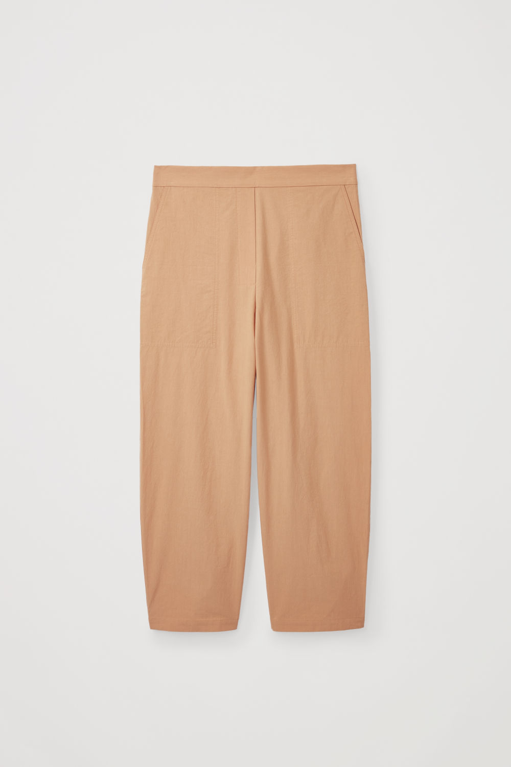 Front image of Cos relaxed-fit cotton chinos in beige
