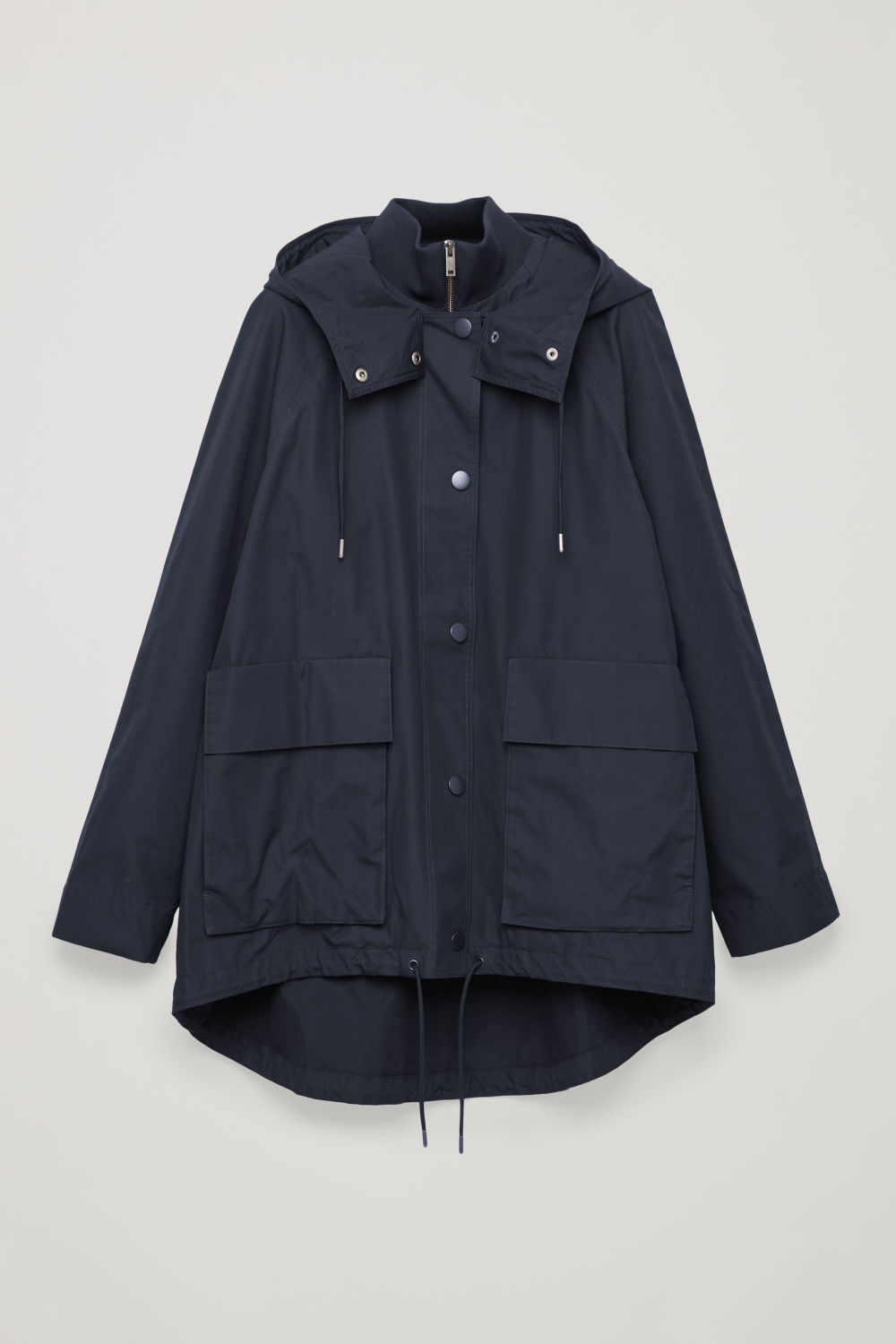 LAYERED COTTON PARKA WITH HOOD