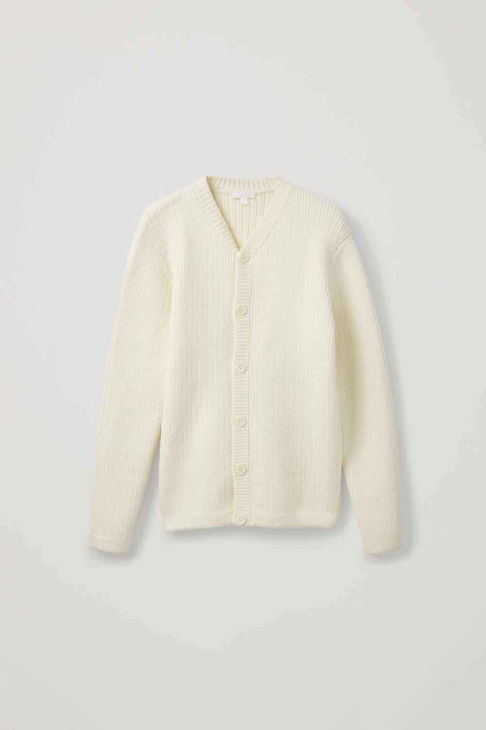 THICK-WOOL V-NECK CARDIGAN