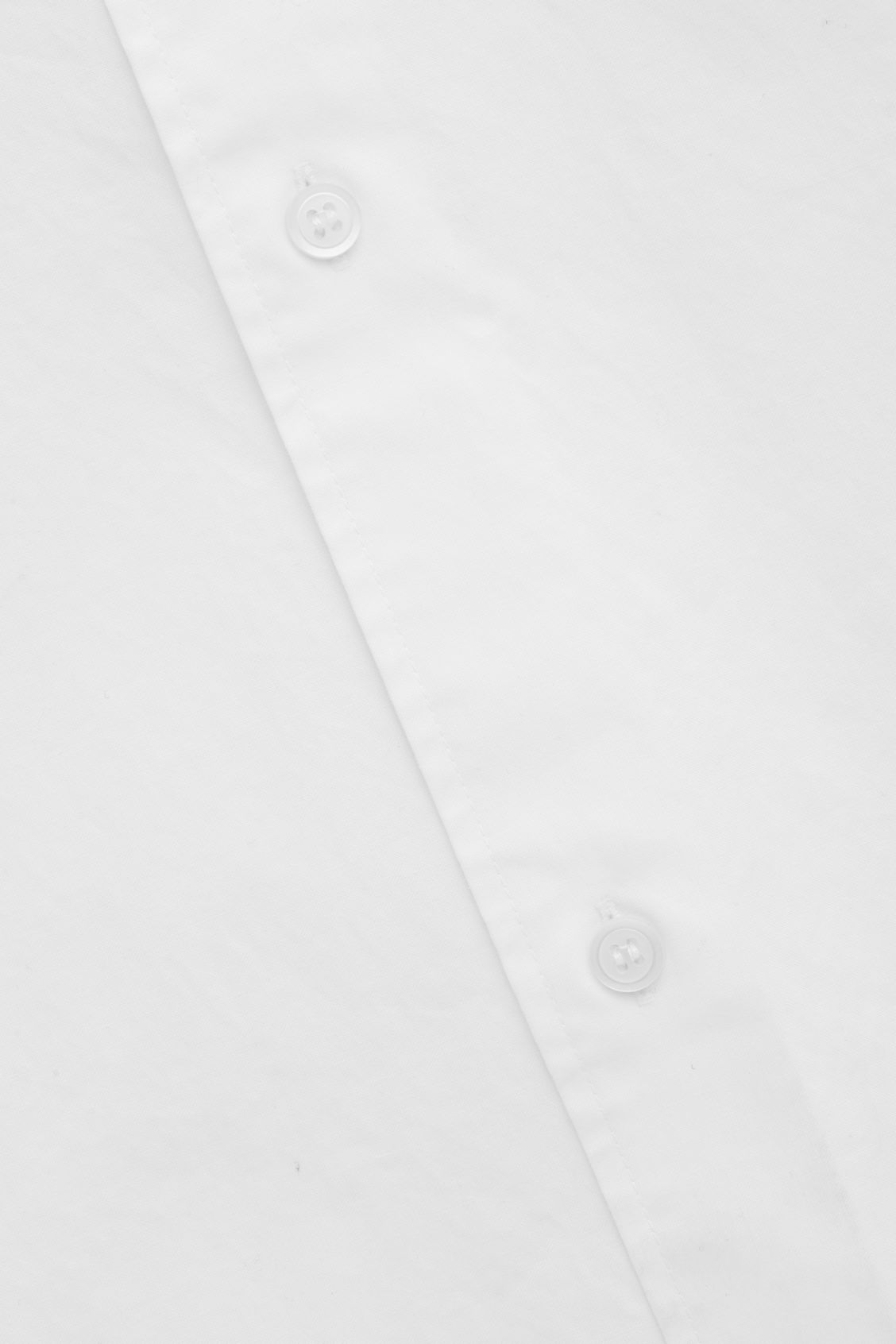 Side image of Cos stepped-hem grandad shirt in white