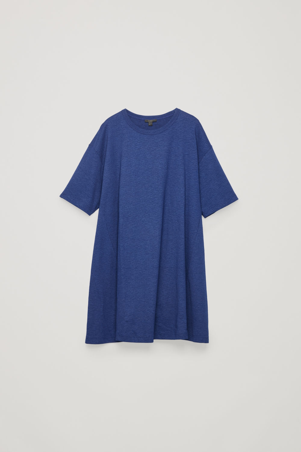 Front image of Cos casual jersey a-line dress in blue