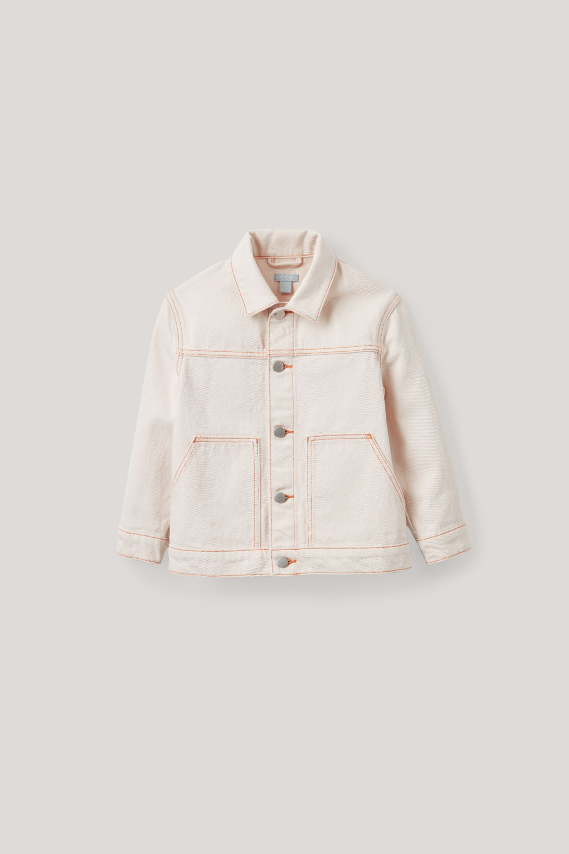 Front image of Cos denim jacket in beige