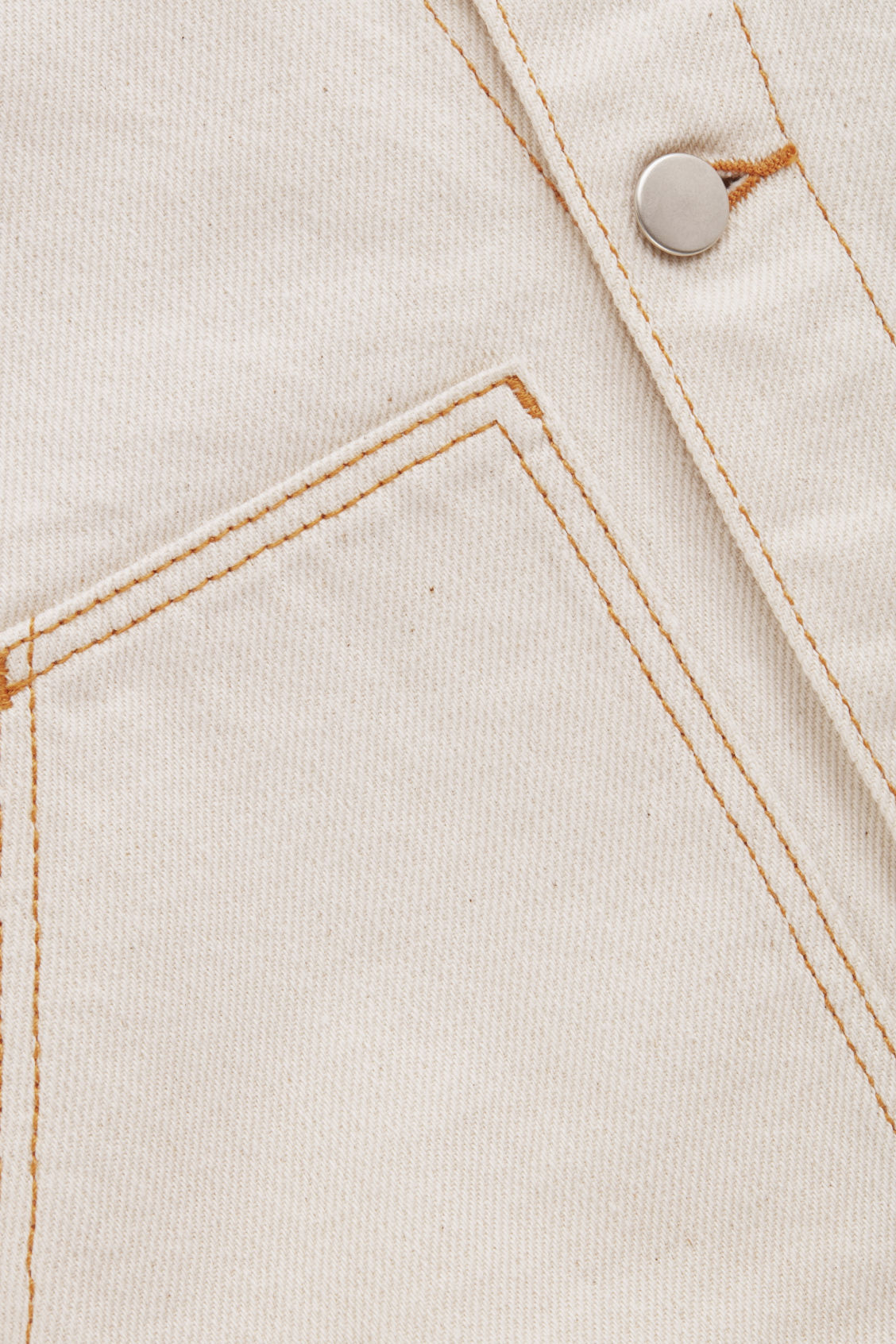 Side image of Cos denim jacket in beige
