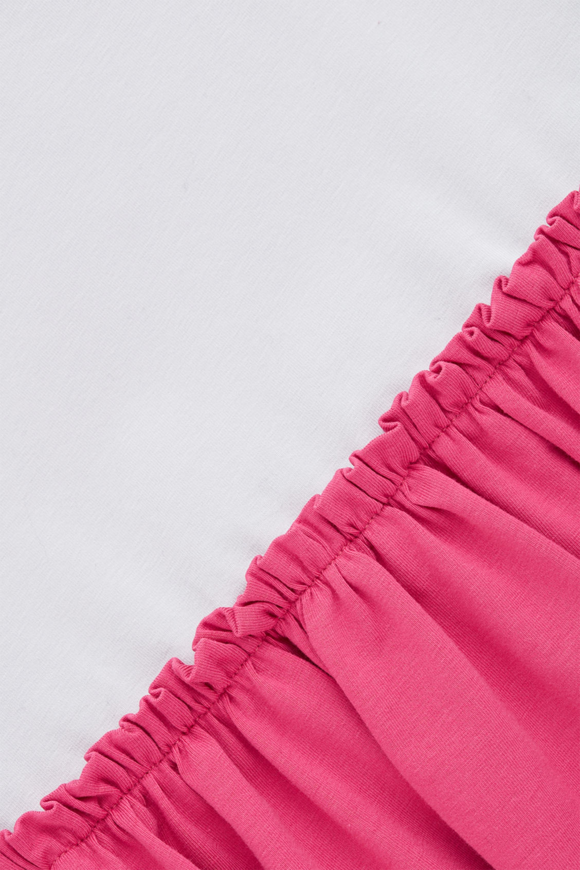 Side image of Cos gathered-detail jersey dress in pink