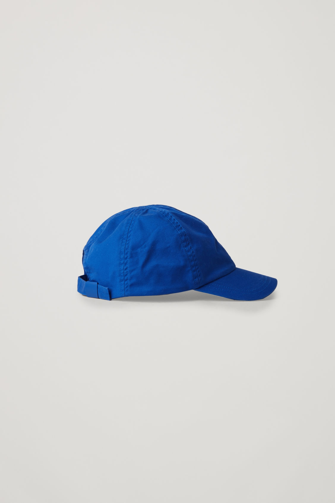 Front image of Cos cotton baseball cap in blue