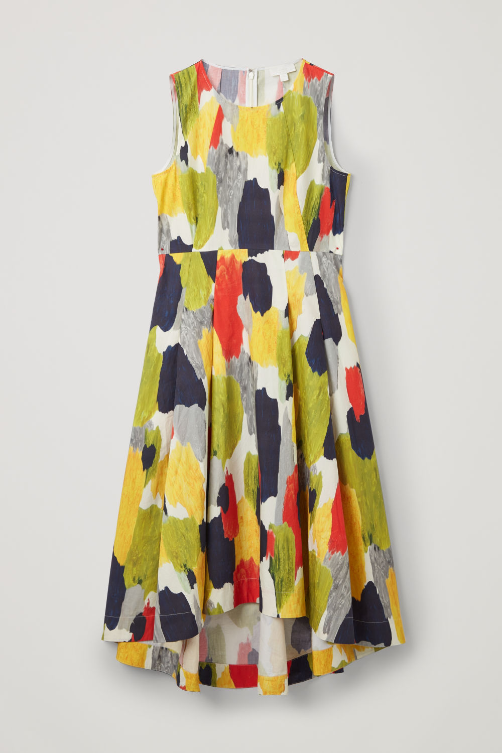 Front image of Cos multicoloured long dress in orange
