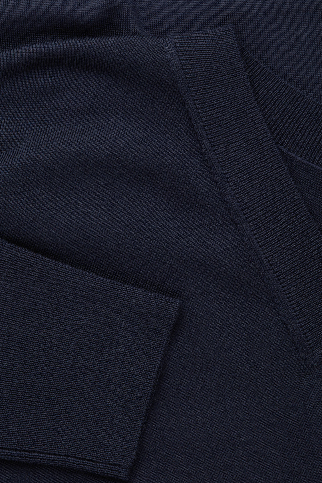 Side image of Cos draped merino v-neck jumper in blue