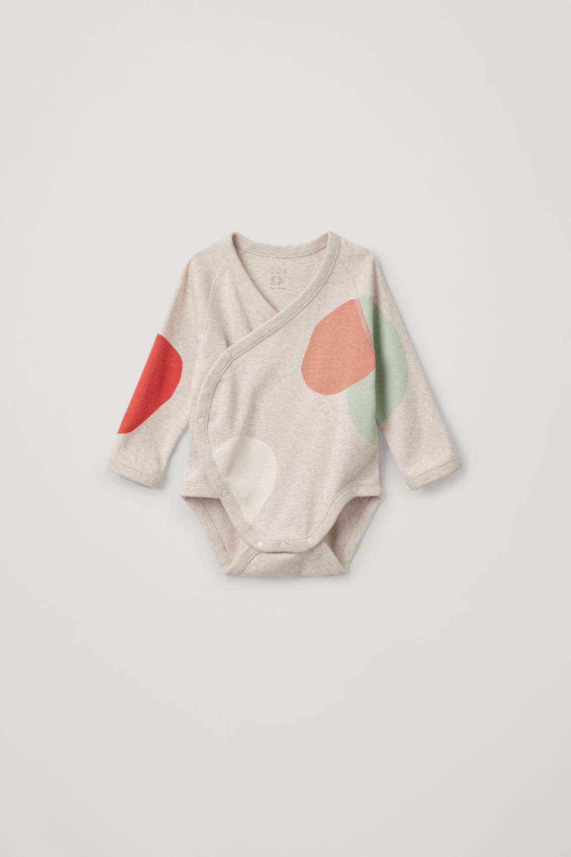 Front image of Cos organic-cotton bodysuit in beige