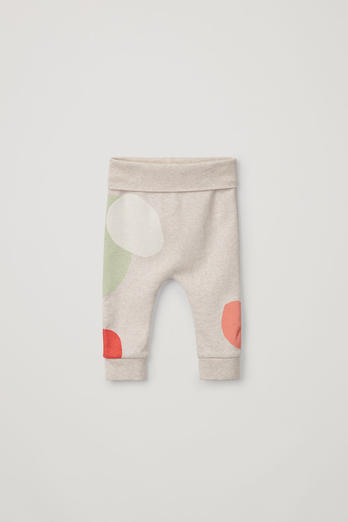 Front image of Cos printed organic-cotton leggings in beige