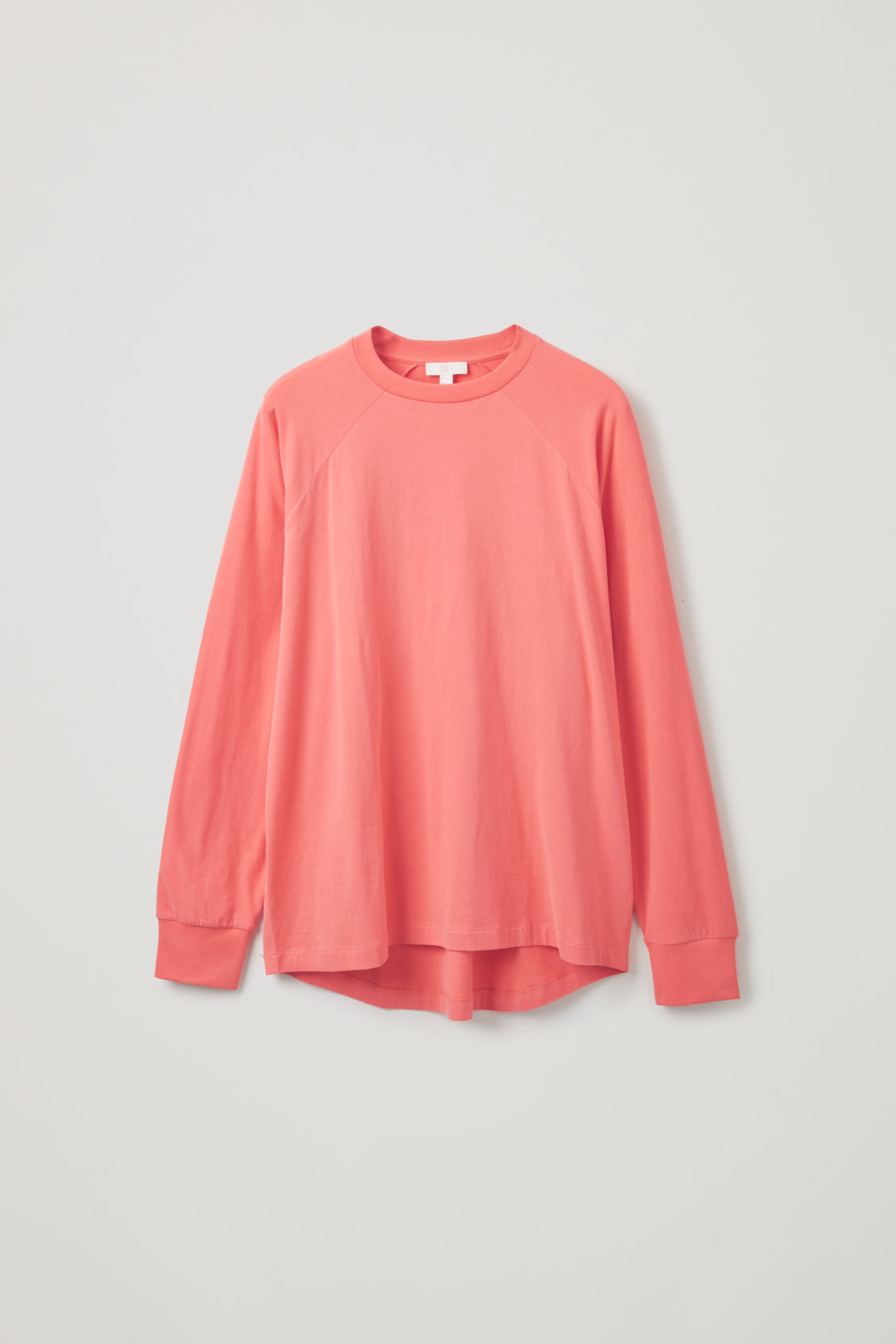 Front image of Cos brushed long-sleeved sweatshirt in orange