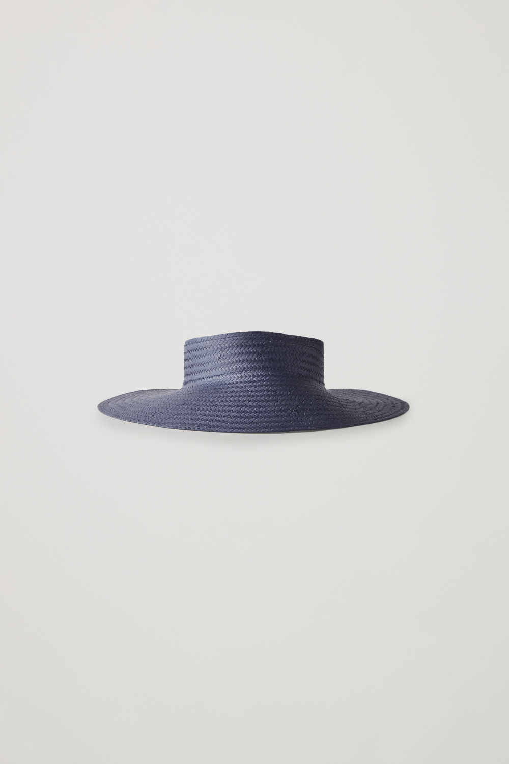 Front image of Cos straw visor in blue