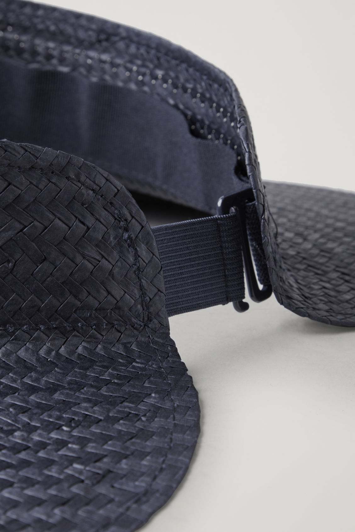 Side image of Cos straw visor in blue