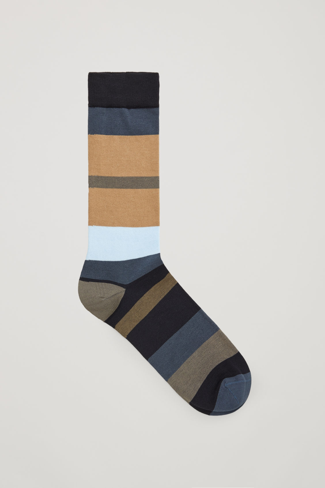Front image of Cos multi-stripe socks  in blue