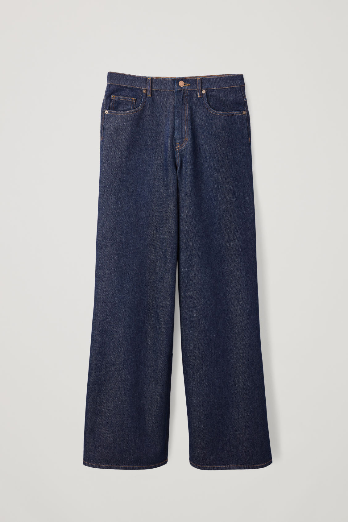 Front image of Cos wide leg jeans in blue