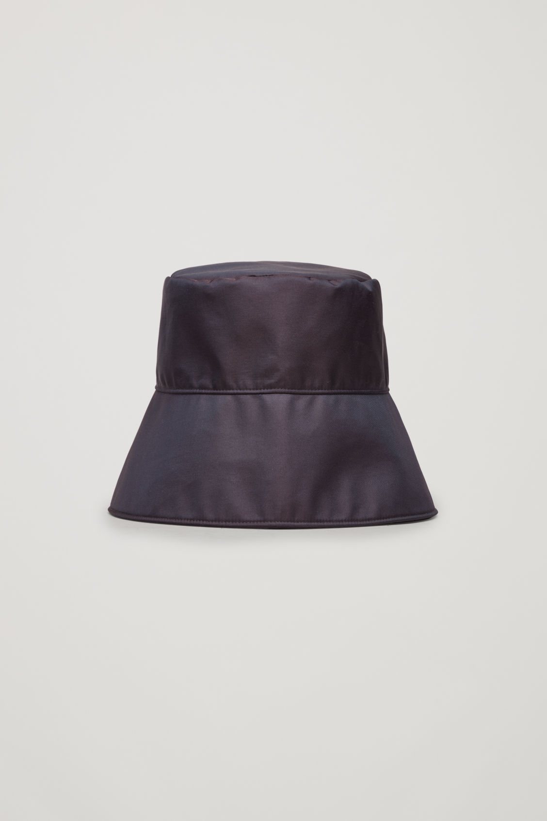 Front image of Cos technical bucket hat in brown