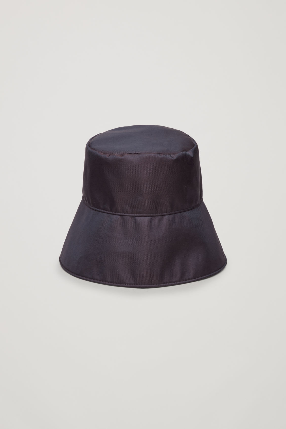 Side image of Cos technical bucket hat in brown