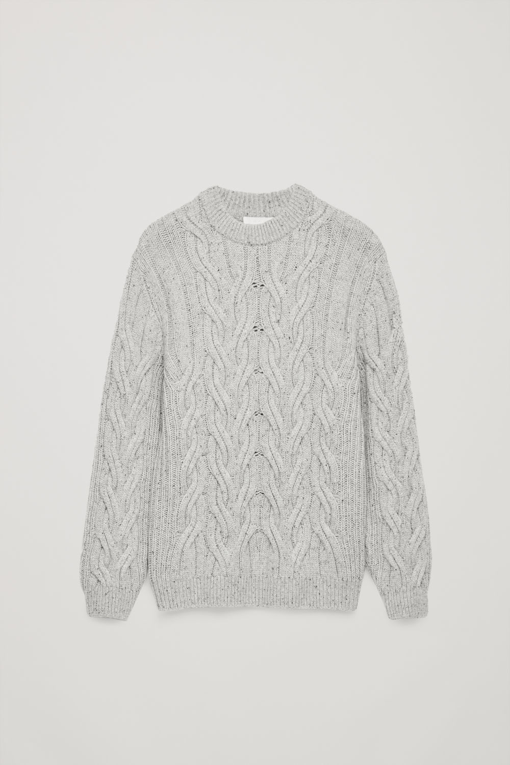 SPECKLED CABLE-KNIT WOOL JUMPER