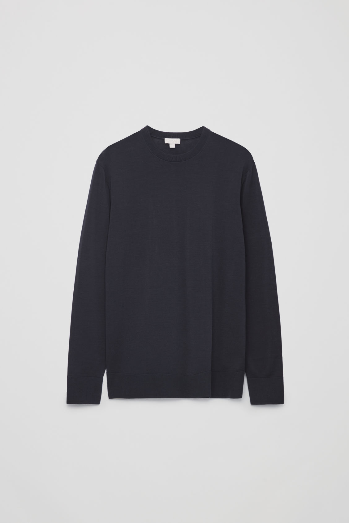 Front image of Cos mercerised-cotton jumper in blue