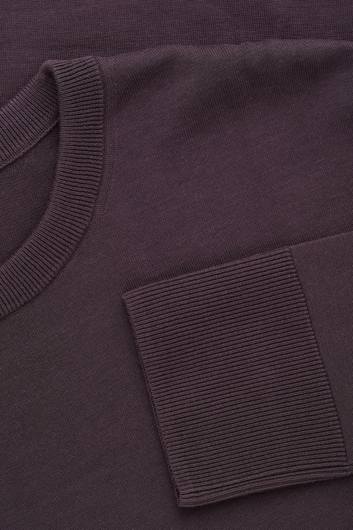 Side image of Cos mercerised-cotton jumper in purple