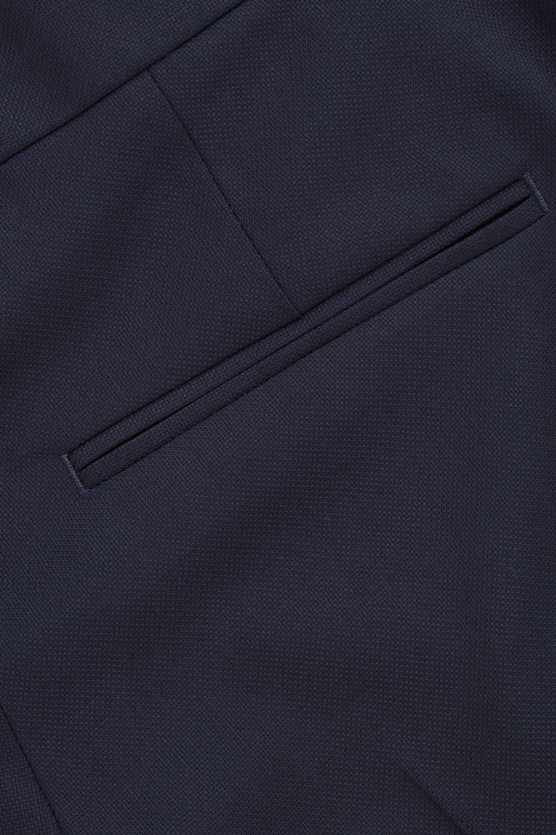 Side image of Cos straight-leg tailored trousers in blue