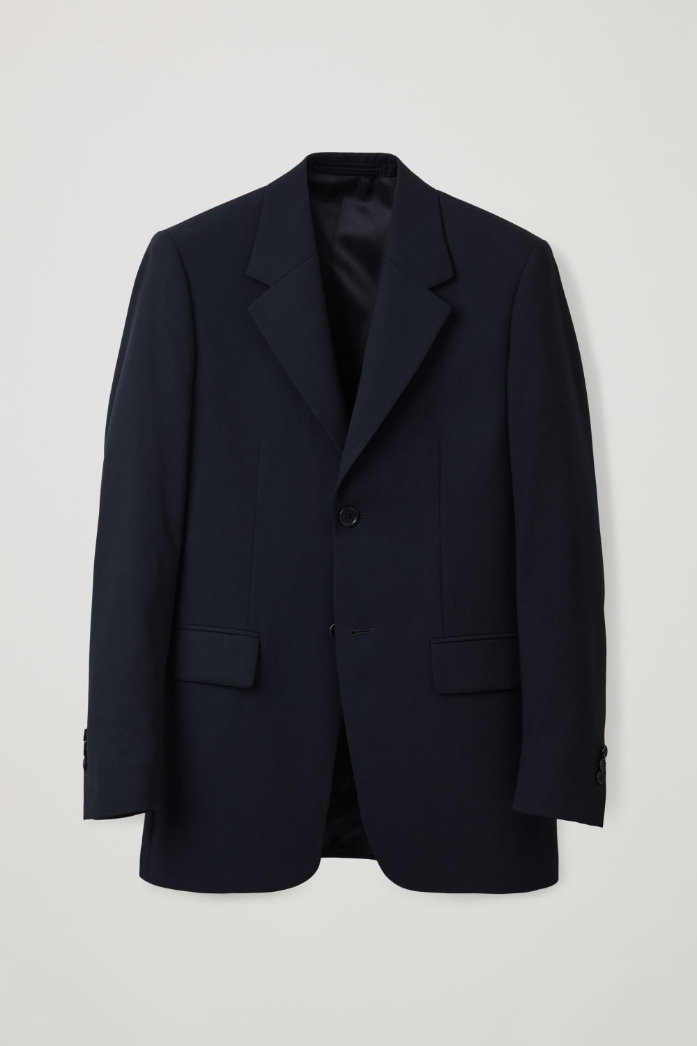 LONG BLAZER WITH WIDE-LAPELS
