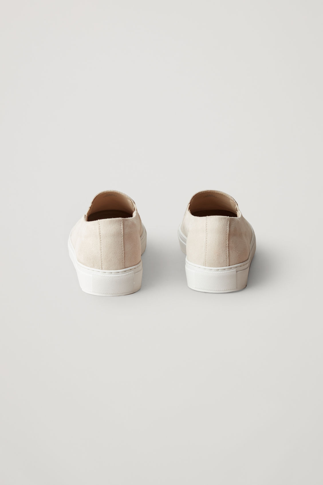 Side image of Cos suede slip-on sneakers  in cream