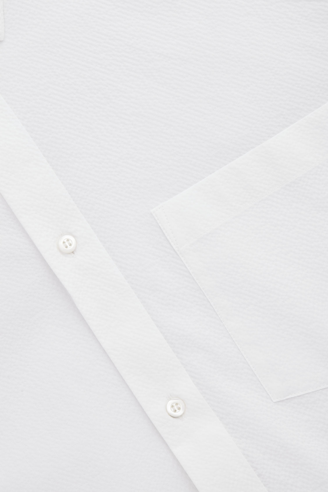 Side image of Cos cotton-seersucker shirt  in white