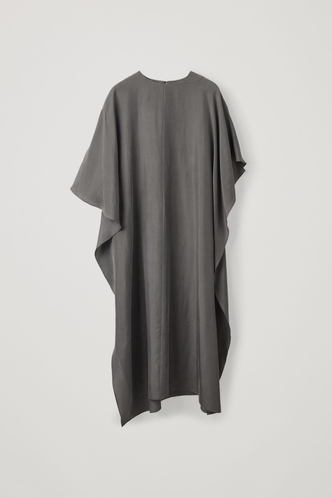 dc3cb359ebe6f DRAPED SILK DRESS - Washed grey - Dresses - COS