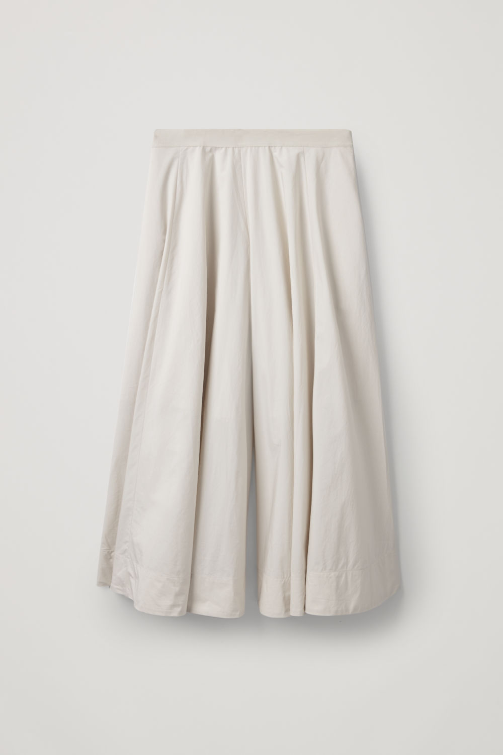 Front image of Cos wide-leg cotton culottes  in cream