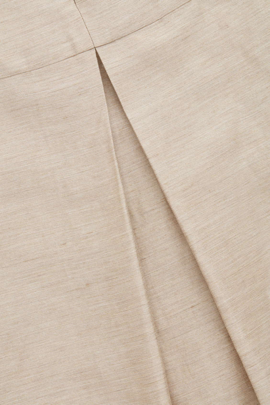 Side image of Cos linen dress with pleated back in beige