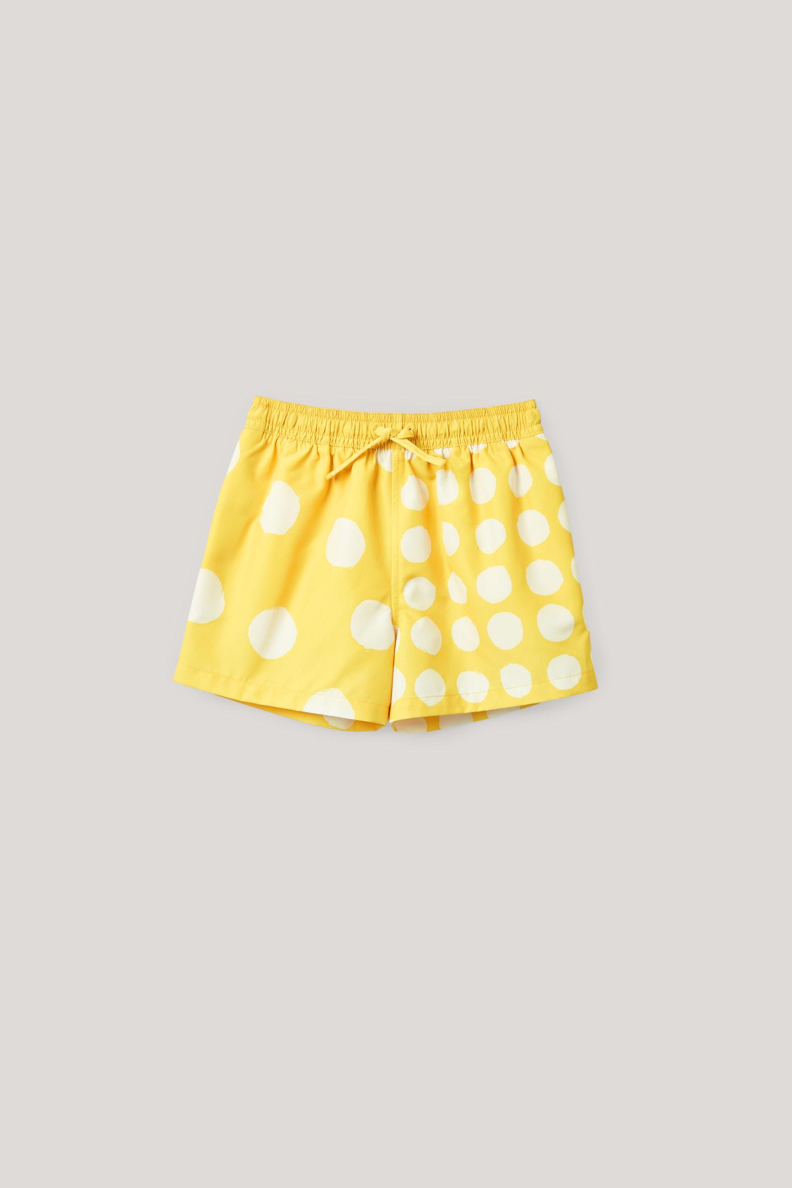 코스 키즈 도트 프린트 수영복 바지 COS DOT-PRINT SWIM SHORTS,Yellow  white