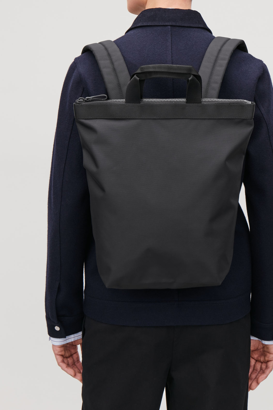 Detailed image of Cos tote backpack in black